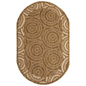 Ковёр «Эко», форма овал, размер 50х80 см