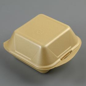 Ланчбокс для гамбургеров 145х145х80 мм, цвет жёлтый