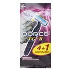 Станок одноразовый Dorco TG-711 с плавной головкой и увл полоской, 2 лезвия, 5 шт