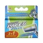Сменные кассеты Dorco  Pace 6 Plus, 4 кассеты, 6 лезвий + 1 лезвие-триммер