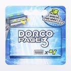 Сменные кассеты Dorco  Pace 3, 4 кассеты с 3 лезвиями