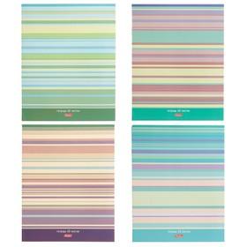 Тетрадь 60 листов линейка LINE, обложка мелованный картон, МИКС