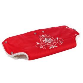 Муфта для рук на детскую коляску «Инфанти», цвет красный Ош