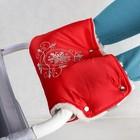 Муфта для рук на детскую коляску «Инфанти», цвет красный