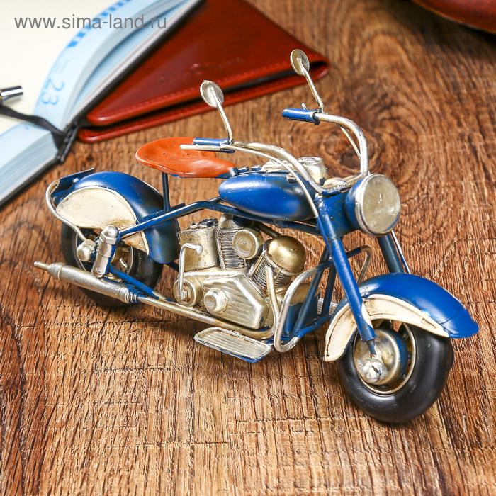 """Коллекционная модель """"Мотоцикл 26004"""" 20*12*7см"""