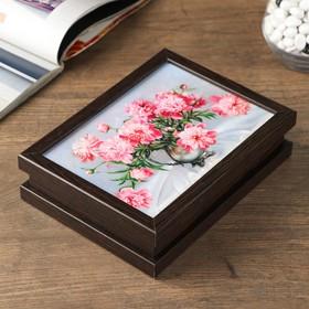 "Box ""Pink peonies"" 15*20 cm"