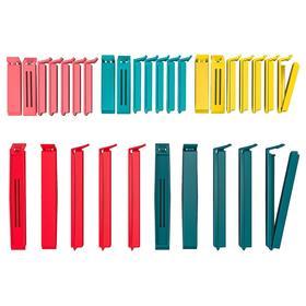 Набор зажимов для пакетов БЕВАРА, 30 шт, различные размеры