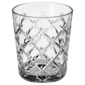 Стакан ФЛИМРА, 280 мл, прозрачное стекло, с рисунком