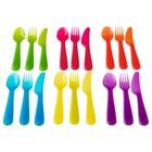 Набор столовых приборов КАЛАС, 18 предметов, разные цвета