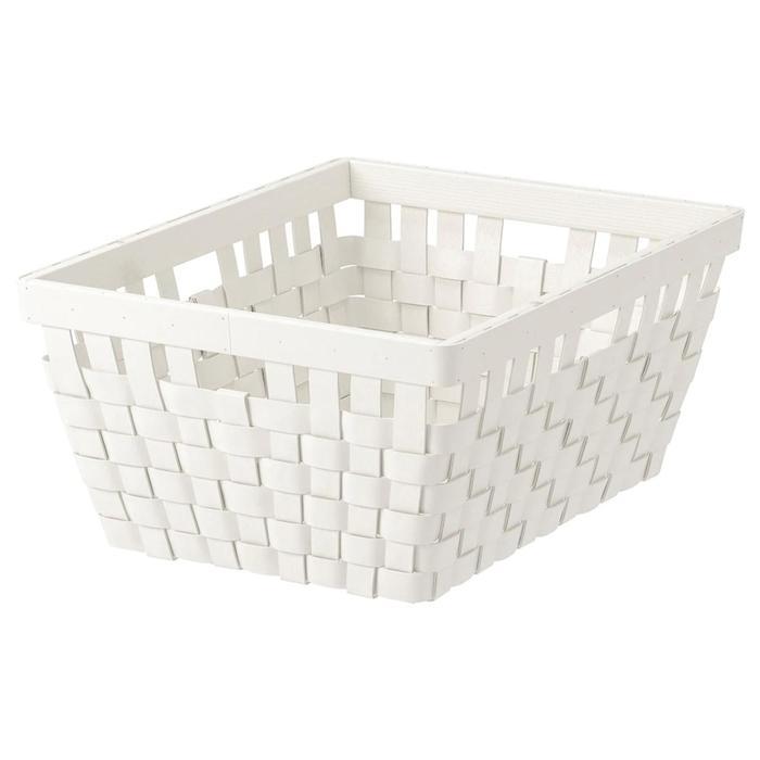 Корзина КНАРРА, 38x29x16 см, белый
