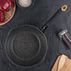 Сковорода-wok кованая 24 см Korea gold, 2 слива, ручка soft-touch, индукция