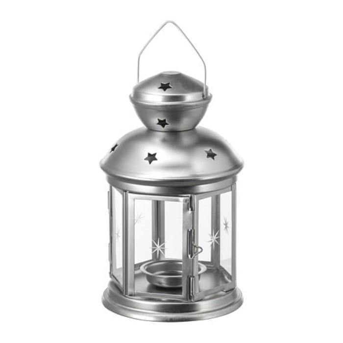 Фонарь для греющей свечи РОТЕРА, 21 см, для дома и улицы, серебристый