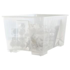 Контейнер САМЛА, 78x56x43 см, 130 л, прозрачный