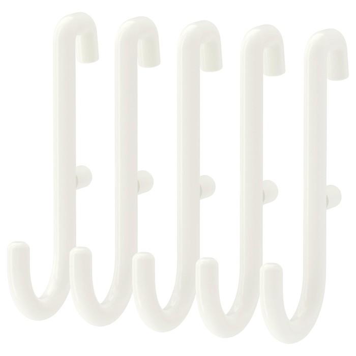 Набор крючков СКОДИС, 5 шт, белый