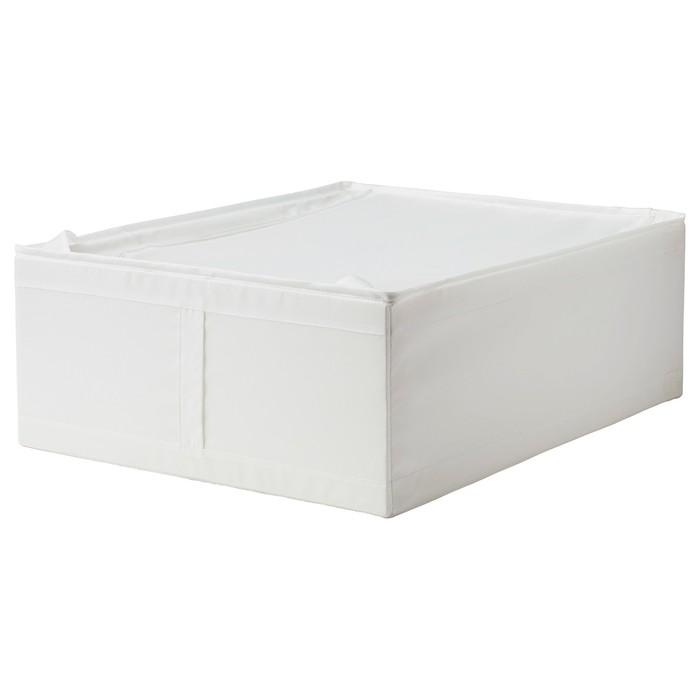 Сумка для хранения СКУББ, 44x55x19 см, белый