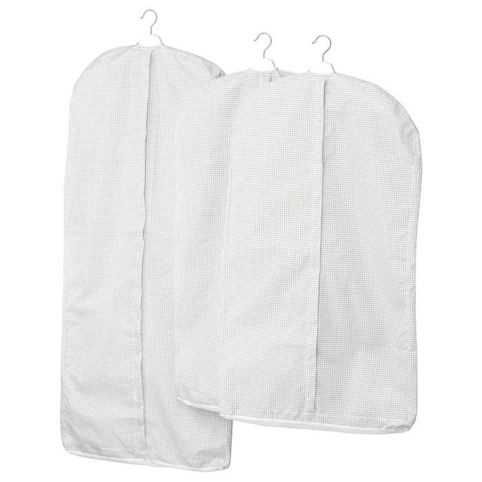 Набор чехлов для одежды СТУК, 3 шт, белый/серый