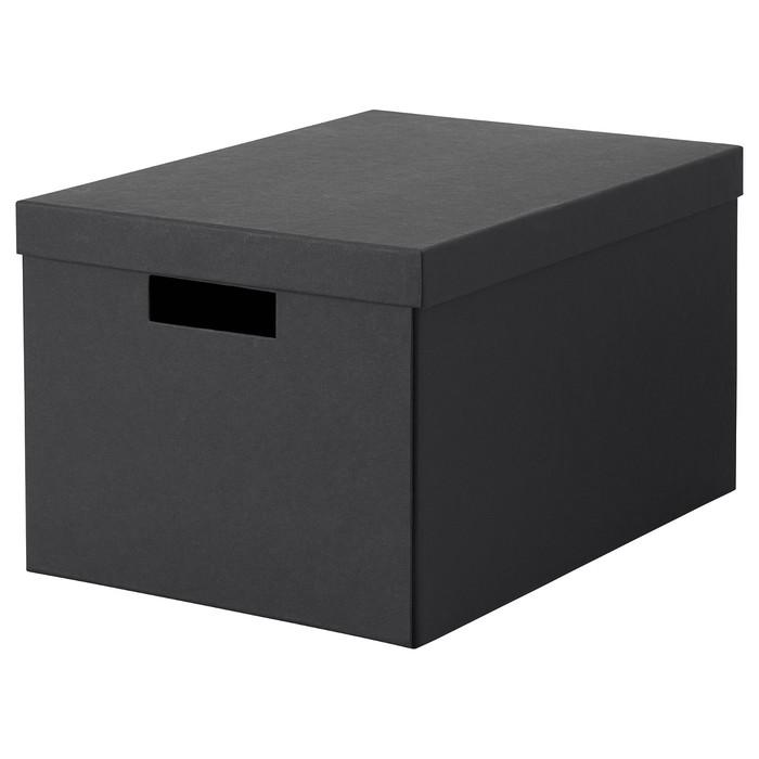 Коробка с крышкой ТЬЕНА, 25x35x20 см, черный