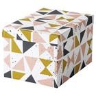 Коробка с крышкой ТЬЕНА, 18x25x15 см, белый черный, розовый