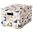 Коробка с крышкой ТЬЕНА, 25x35x20 см, белый черный, розовый