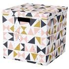 Коробка с крышкой ТЬЕНА, 30x30x30 см, белый черный, розовый