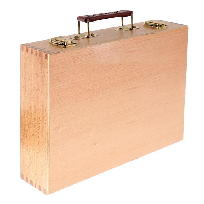 Этюдный ящик, 32.5 х 34 х 7.7 см, бук