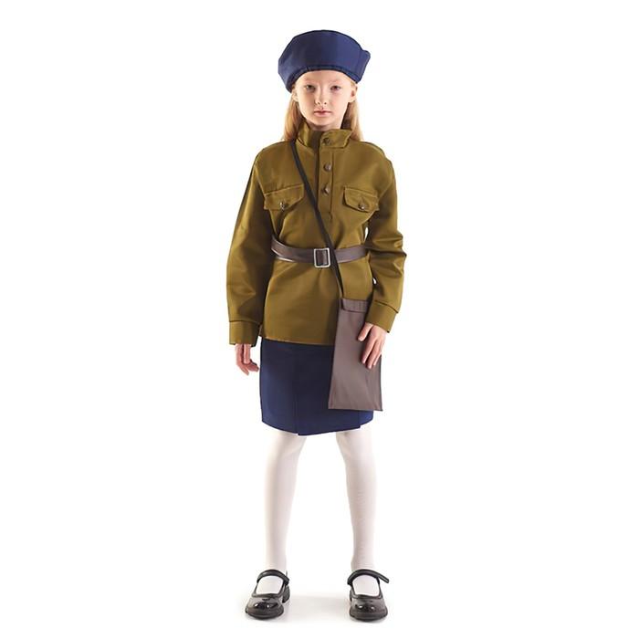 """Костюм военного """"Лётчица"""", 3-5 лет, рост 104-116 см - фото 105522265"""