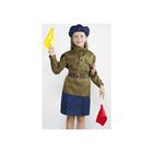 """Военный костюм """"Регулировщица"""", 3-5 лет, рост 104-116 см"""