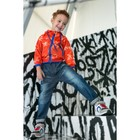 """Ветровка для мальчика MINAKU """"Молния"""", рост 116-122 см, цвет оранжевый"""
