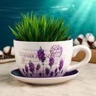 """Горшок цветочный в форме чашки """"Лаванда"""" 15*19*10 см - фото 1693023"""