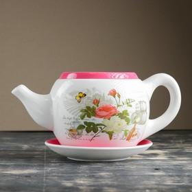 """Горшок цветочный в форме чайника """"Розы"""" 32*18*15 см"""