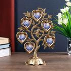 "Plastic photo frame for 6 photos 4,5x3 cm ""Tree of hearts"" dark gold 26,5x19,5x11 cm"