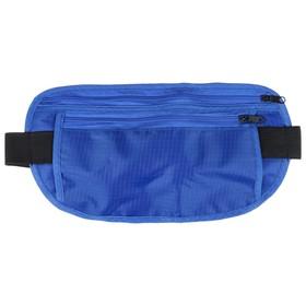 Bag sports belt 25x13 cm, color blue