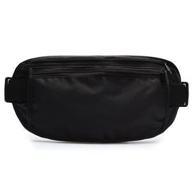 Сумка спортивная на пояс 25х13 см, цвет черный