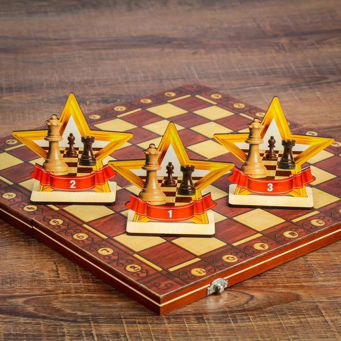 """Набор шахматных наград """"Лучший"""", 14 × 12 см"""