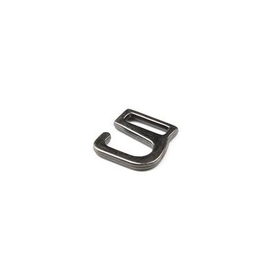 Крючки для босоножек, 12 мм, цвет тёмный никель