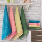 Полотенце Бамбук 50х90 см, фисташка, хлопок 100 %, 500 г/м²