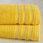 "Полотенце ""Венго"" 50х90 см, желтый, 450 гр/м2, 100 % хлопок"