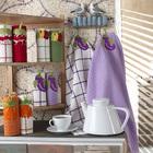 "Набор полотенец вафельных ""Баклажаны"" 45х60см, 250 гр/м2 , 100 % хлопок"