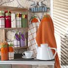 Набор полотенец вафельных Морковь 45х60 см, хлопок 100 %, 250 гр/м2