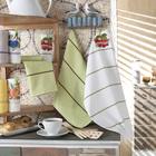 Набор полотенец махрово-вафельных Клубника 45х60 см, хлопок 100%, 360 гр/м2