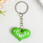 "Keychain plastic ""Heart pattern"" frosted MIX of 2,5x3,8 cm"