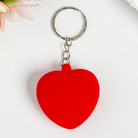 """Key chain ring in velvet Peeps """"Heart"""" of 4,5x4,5x2,5 cm"""