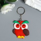 "Rubber keychain of the ""Bright owl"" MIX 6x5 cm"