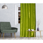 Штора портьерная 143х260 см, тафта, темно-зелёный, на шторной ленте, пэ 100%