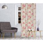 Штора портьерная Romance 150х260 см, цв.розовый, на шторной ленте, пэ 100%