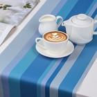 """Дорожка на стол 140×30 см """"Сервировка"""", цвет голубой"""