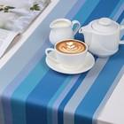 """Дорожка на стол 120×30 см """"Сервировка"""", цвет голубой"""