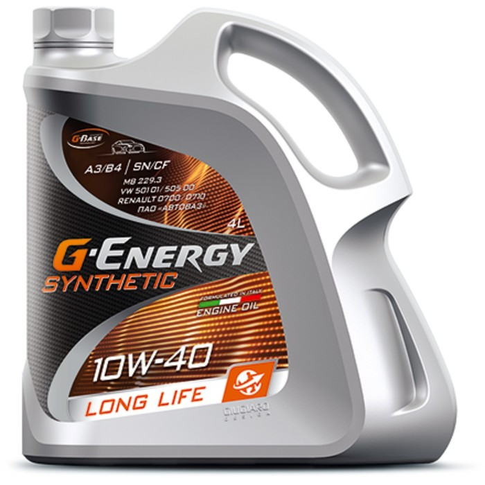 Масло моторное G-Energy Synthetic Long Life 10W-40, 4 л