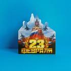Открытка поздравительная «23 Февраля, С Днем Защитника Отечества!», тиснение, 12 × 13 см
