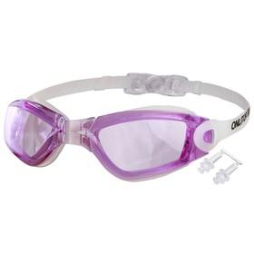 Очки для плавания, взрослые + беруши, цвета микс Ош